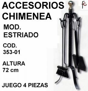 ACCESORIOS CHIMENEA MOD. ESTRIADO F.C.