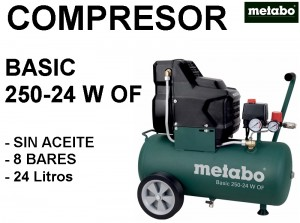 COMPRESOR BASIC 250-24 W OF METABO