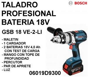 TALADRO BATERIA 18V  GSB 18 VE-2-LI BOSCH (1)
