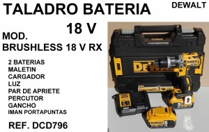 TALADRO BATERIA 18 V DEWALT (2)