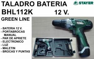 TALADRO BATERIA 12 V. BHL112K STAYER